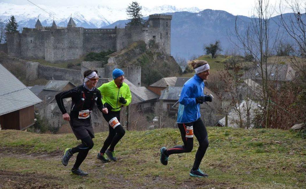 Coureurs de trail sur le parcours du trail des Rois en 2019